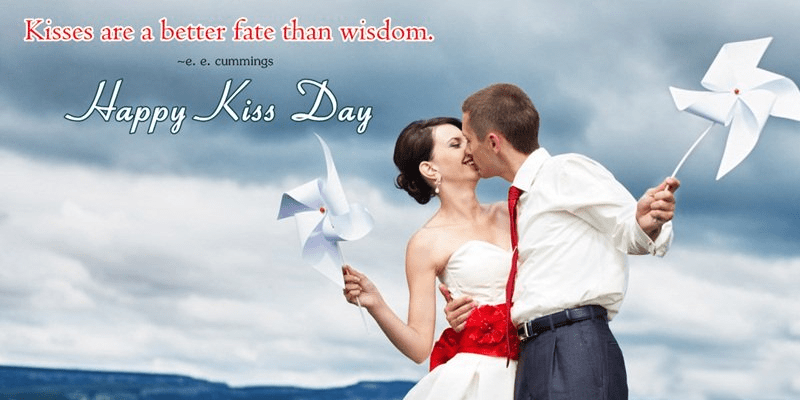 Happy Kiss Day Wallpaper